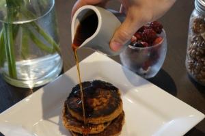 paleo gluten free carrot cake pancakes