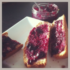 Paleo bread with jam
